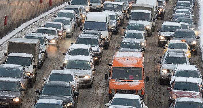 Sastrēgums. Foto no arhīva