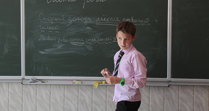Урок русского языка. Архивное фото