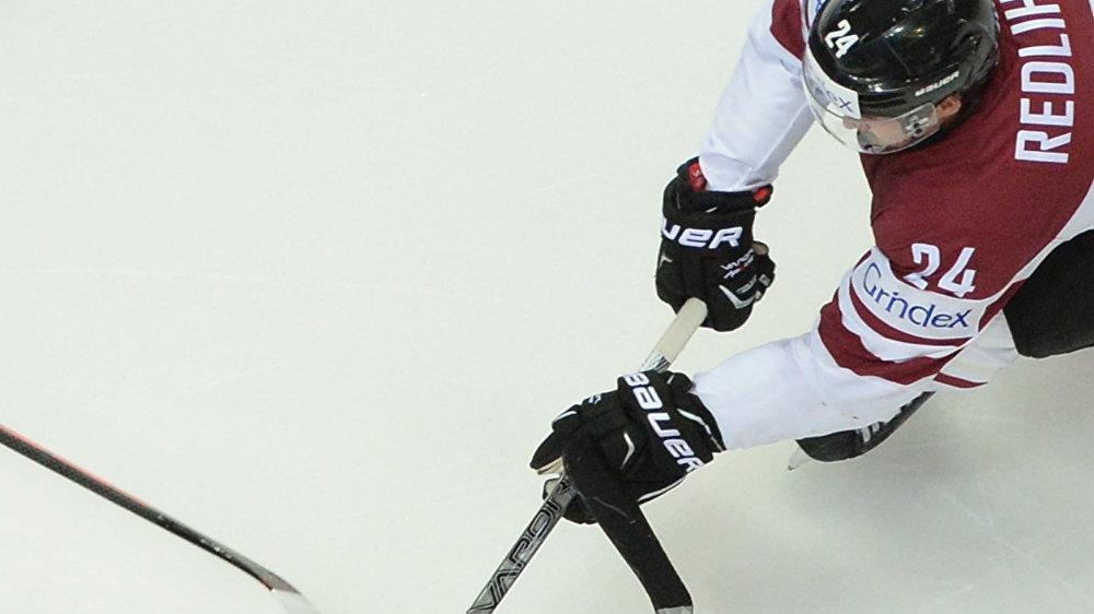 Игрок сборной Латвии Микелис Редлихс