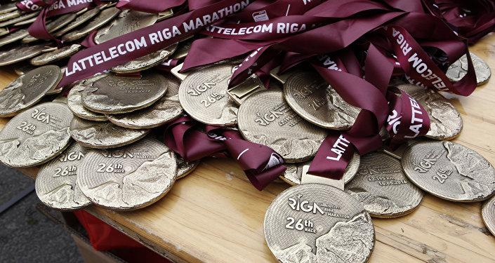 Медали Рижского марафона