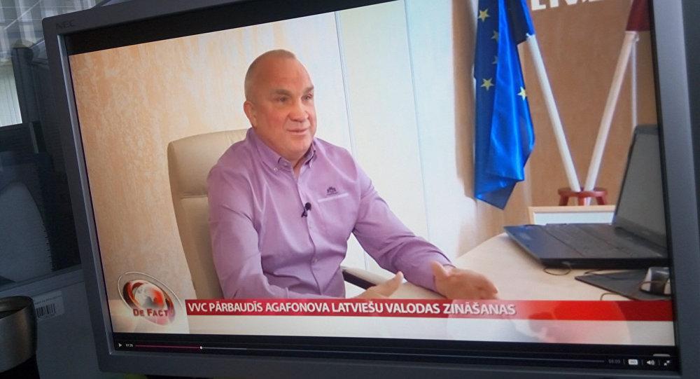 Олег Агафонов в телепрограмма De Facto LTV. Архивное фото