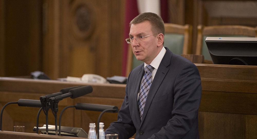 Глава МИД Латвии Эдгарс Ринкевич. Архивное фото