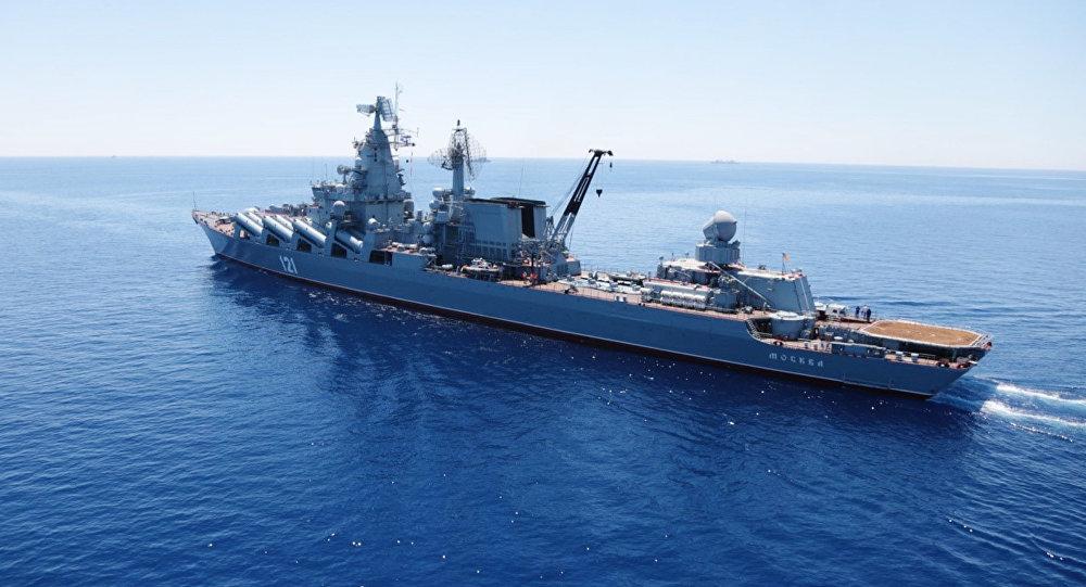 Гвардейский ракетный крейсер «Москва».Архивное фото