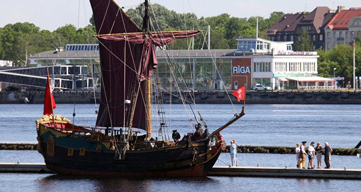 Точная копия корабля времен герцога Екаба