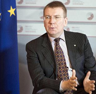 Архивное фото министра иностранных дел Латвии Эдгарса Ринкевичса