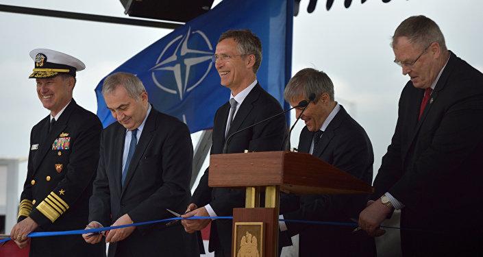 Amerikāņu PRA kompleksa Aegis Ashore atklāšanas ceremonija kara bāzē Deveselu Rumānijā. Foto no arhīva