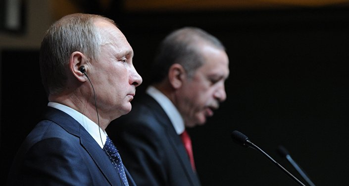 Президент России В.Путин и президент Турции Реджеп Тайип Эрдоган