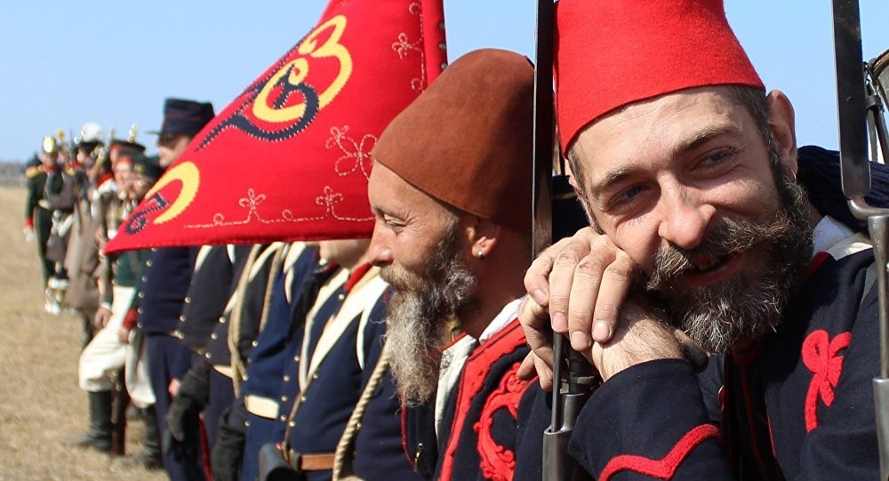 Солдат армии Османской империи. Реконструкция. Архивное фото