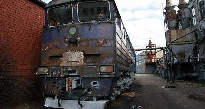 Даугавпилсский локомотиворемонтный завод. Архивное фото