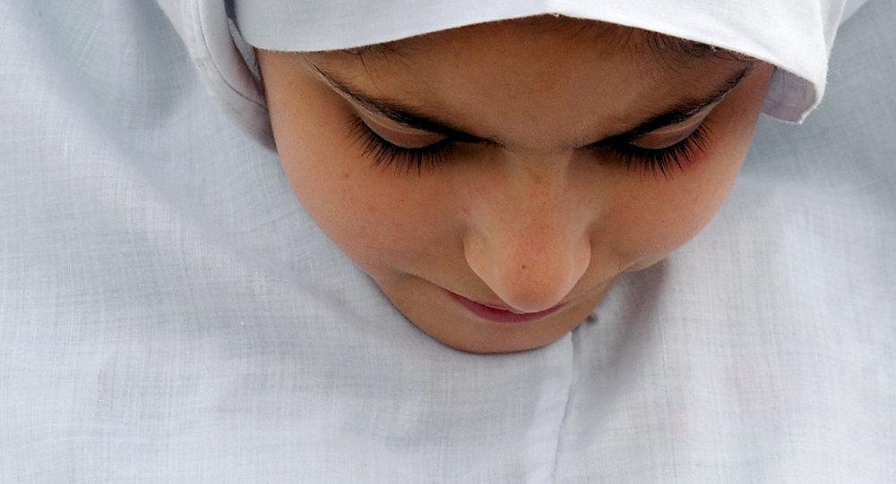 Musulmaņu meitene. Foto no arhīva