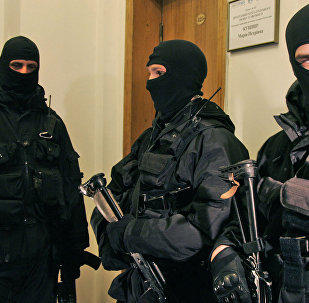 Ukrainas Drošības dienesta darbinieki. Foto no arhīva