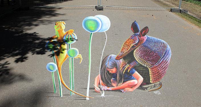 Международный фестиваль трехмерного искусства в Межапарке