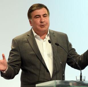 Bijušais Gruzijas prezidents un Odesas apgabala gubernators Mihails Saakašvili