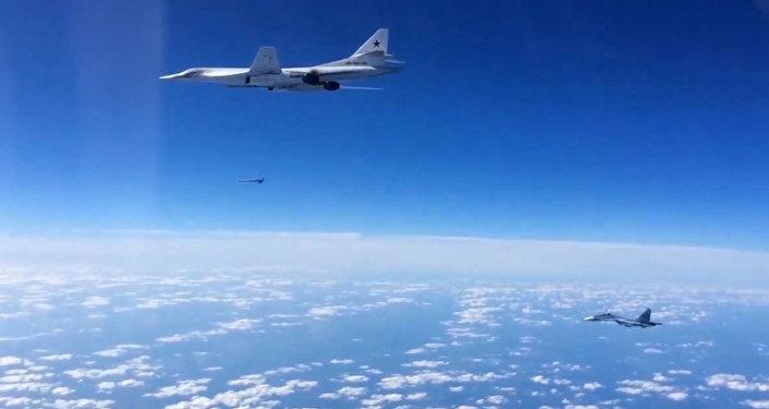 KF GKS tālās darbības aviācijas uzlidojumi teroristu objektiem Sīrijā. Foto no arhīva