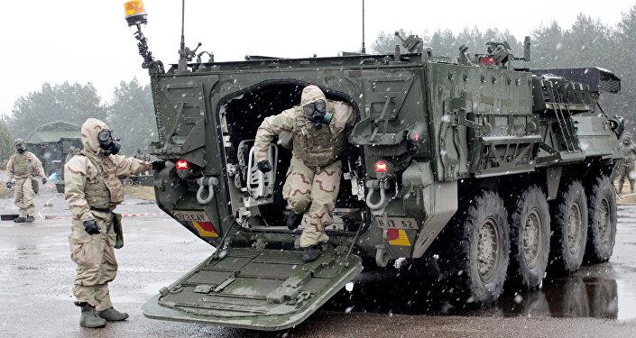 NATO militārās mācības Operation Summer Shield Ādažu poligonā Latvijā. Foto no arhīva