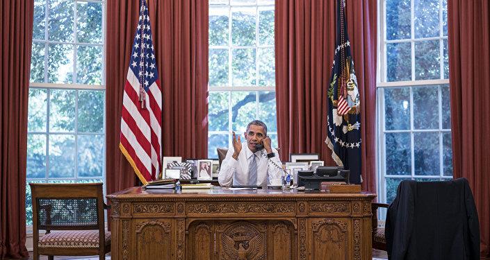 Барак Обама в Белом доме. Архивное фото