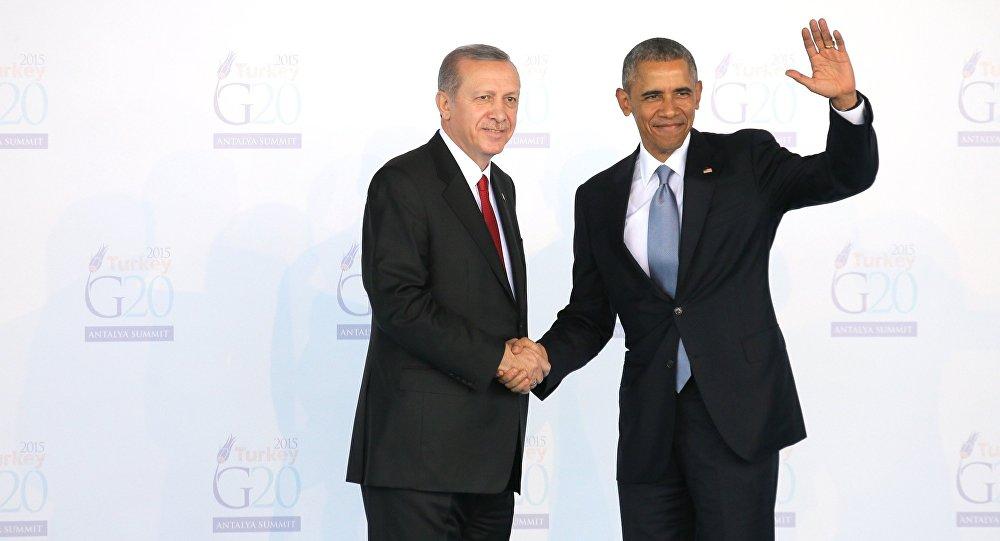 Президент Турции Тайип Эрдоган и президент США Барак Обама. Архивное фото