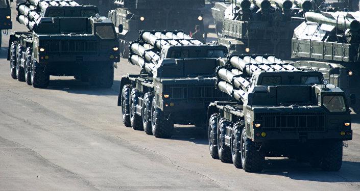Reaktīvās artilērijas sistēma Smerč. Foto no arhīva