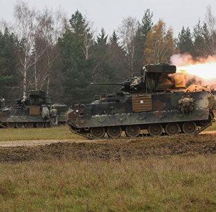 Военные учения в Германии, архивное фото