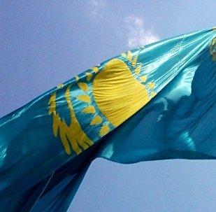 Kazahstānas Republikas karogs.