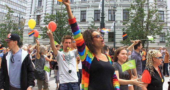 Участники Baltic Pride в Вильнюсе. Архивное фото