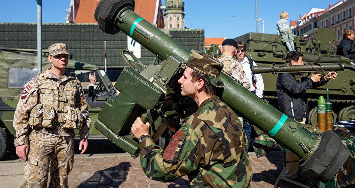 ASV armijas militārā tehnika Rīgā