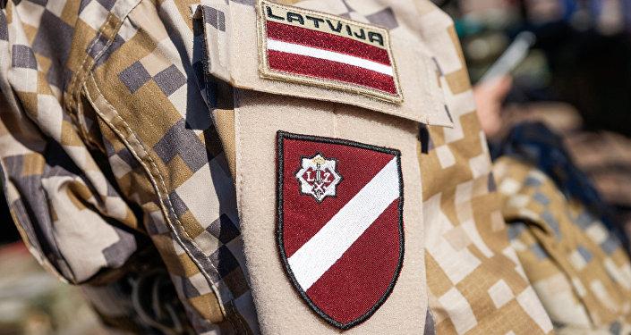 Шеврон солдат латвийской армии