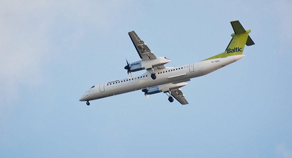 Архивное фото: самолет Bombardier компании AirBaltic