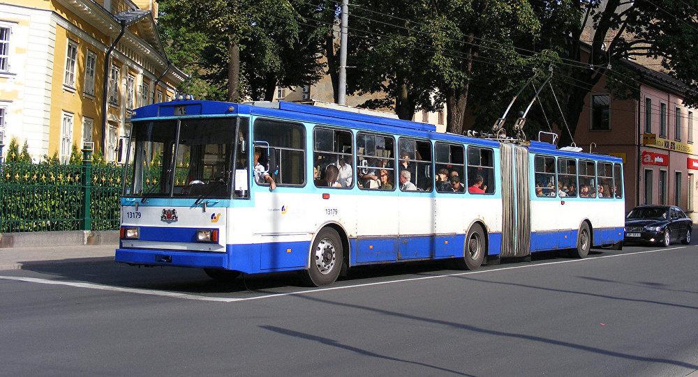 Троллейбус №15 в Риге. Архивное фото