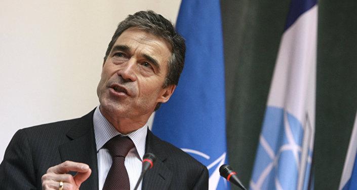 Ukrainas prezidenta padomnieks, bijušais NATO ģenerālsekretārs Anderss Fogs Rasmusens. Foto no arhīva