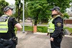 Полицейские на улицах Риги