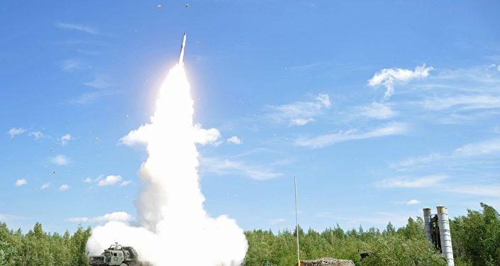 Pretgaisa aizsardzības karaspēku raķešu izmēģinājumi. Foto no arhīva