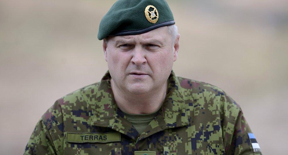 Igaunijas Aizsardzības spēku komandieris ģenerālleitnants Riho Terrass