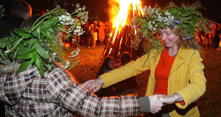 Праздник Лиго в Литве. Архивное фото