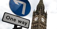 Башня ратуши в Манчестере, где пройдет объявление итогов референдума о членстве Великобритании в Европейском союзе