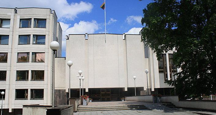 Здание правительства Литвы в Вильнюсе