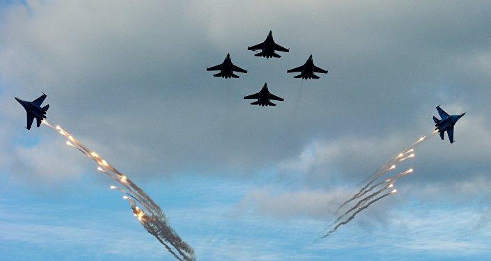 Pilotāžas grupa Russkije vitjazi. Foto no arhīva.