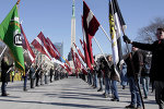 Марш ветеранов латышского легиона СС в Риге