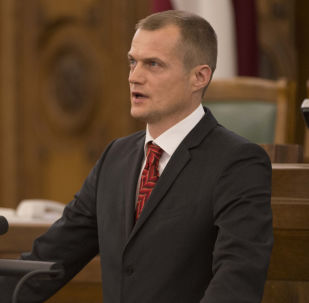 Cпикер парламента Латвии депутат Иварс Зариньш