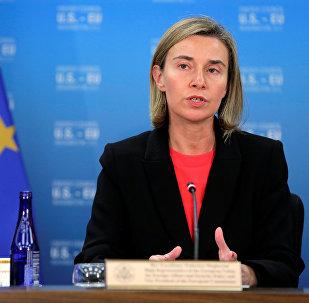 Eiropas diplomātijas vadītāja Federika Mogerīni