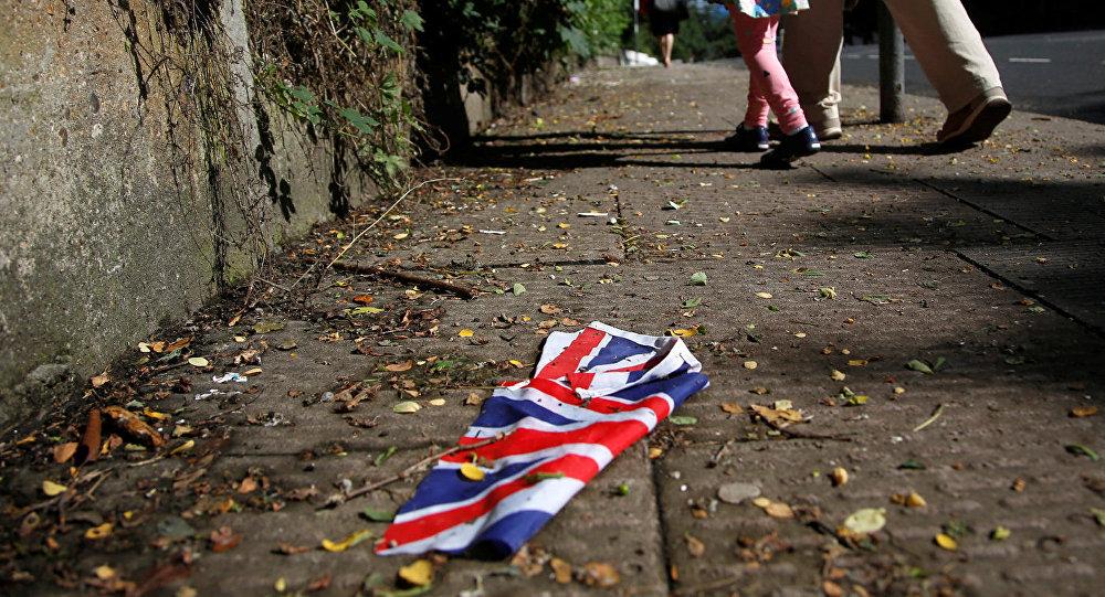 Lielbritānijas karogs Londonā. Foto no arhīva