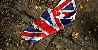 Флаг Великобритании на улице Лондона
