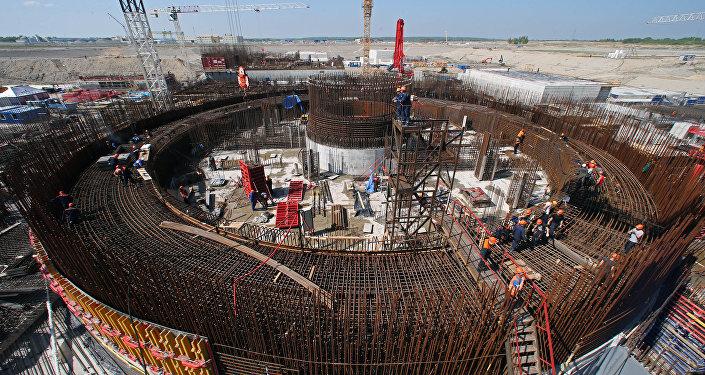 Baltijas atomelektriskās stacijas būvdarbi. Foto no arhīva