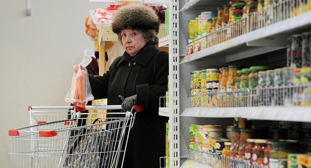 Veikala apmeklētāja. Foto no arhīva