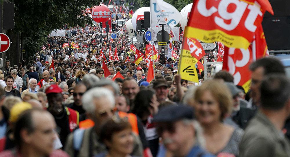 Протесты в Париже против нового трудового кодекса