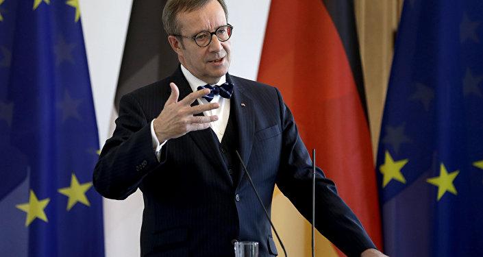 Президент Эстонской Республики Тоомас Хендрик Ильвес. Архивное фото