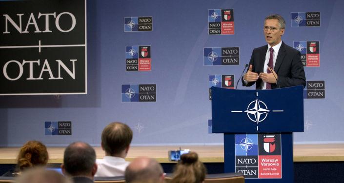 NATO ģenerālsekretārs Jenss Stoltenbergs NATO samitā Varšavā