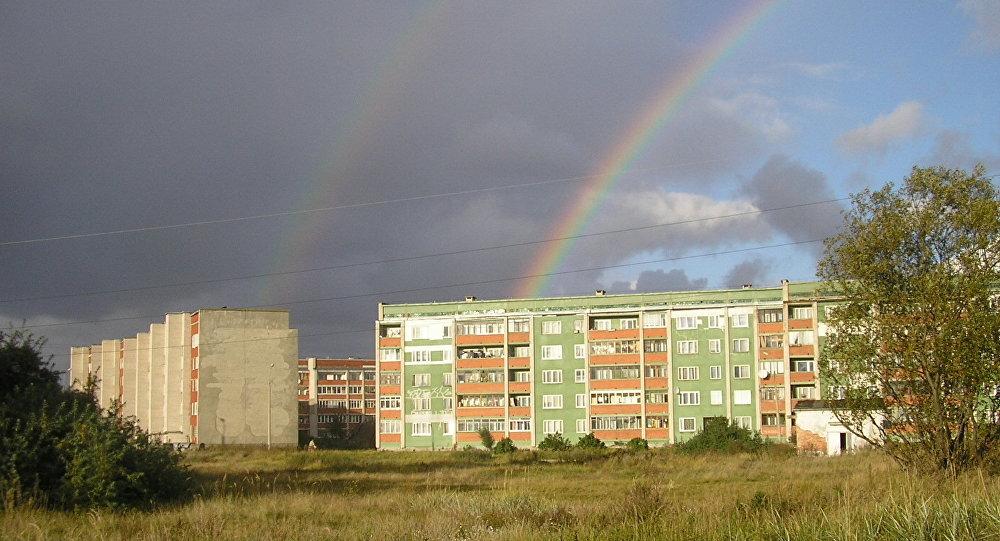 Varavīksne virs Bolderājas. Foto no arhīva