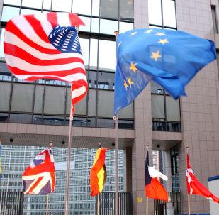 ASV un ES karogi. Foto no arhīva