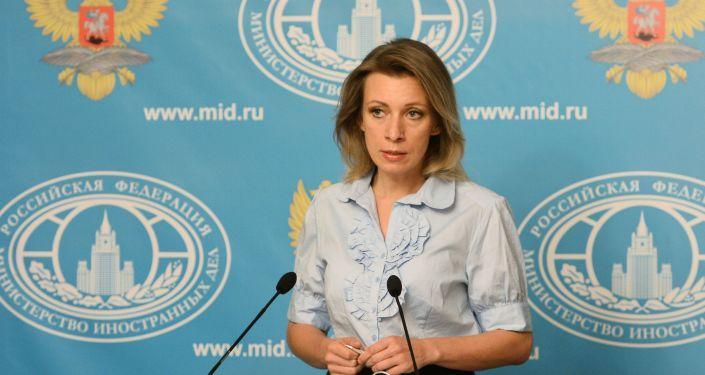 Krievijas ĀM oficiālā pārstāve Marija Zaharova. Foto no arhīva